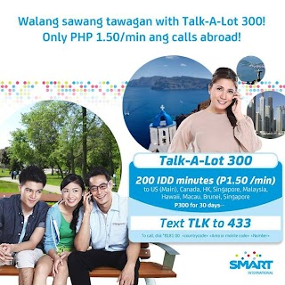 Smart call abroad Talk A Lot 300 IDD Promo rate