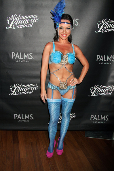 Danielle Harris Rocks Body Paint Lingerie in Vegas