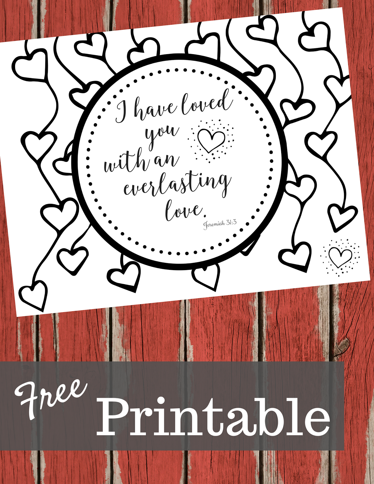 The Prudent Pantry Scripture Coloring Page I Have Loved You