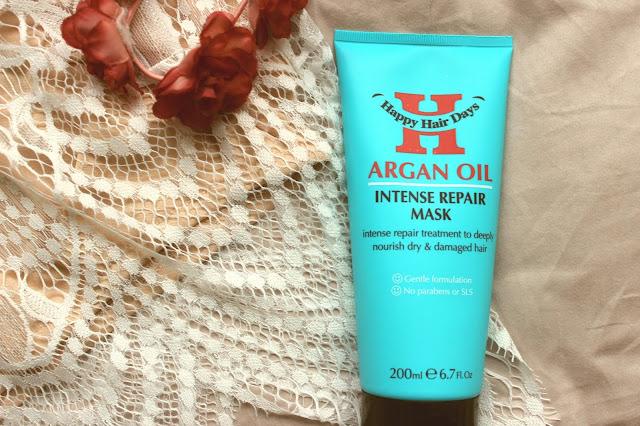 happy hair days argan oil hair mask review