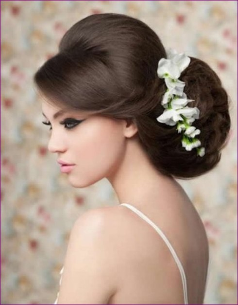 Fashion Style Pretty New Latest Bridal Wedding Hair Style Collection 2013