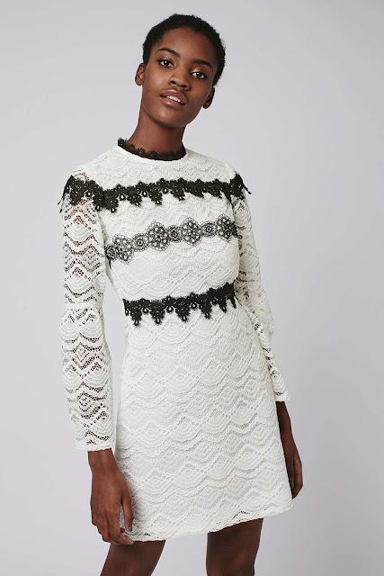 white black lace dress,