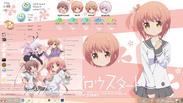 Slow Start Theme Win 10 Ver. 1803 by Enji Riz Lazuardi