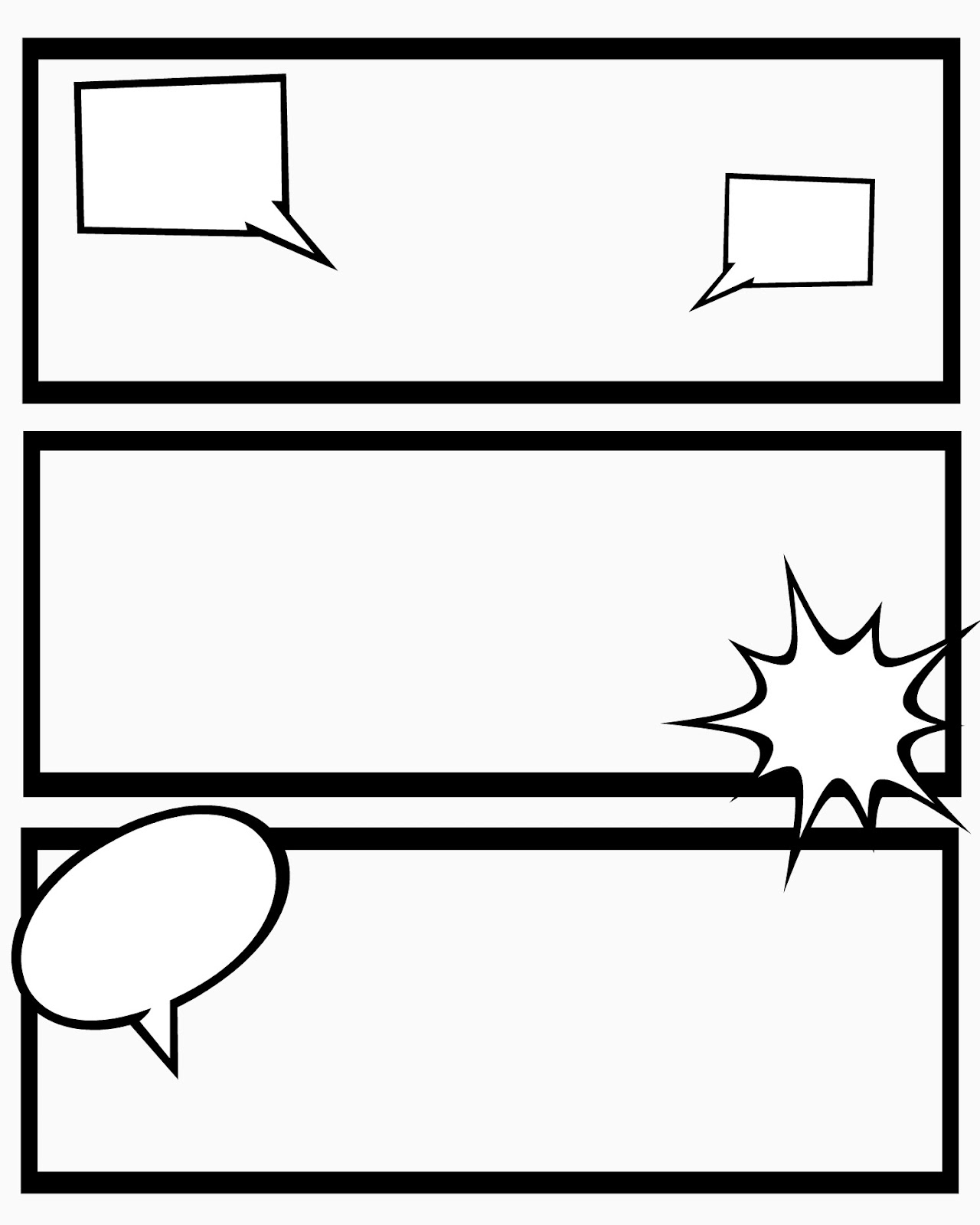 Blank Comic Book Template. comic book paper template blank layout ...