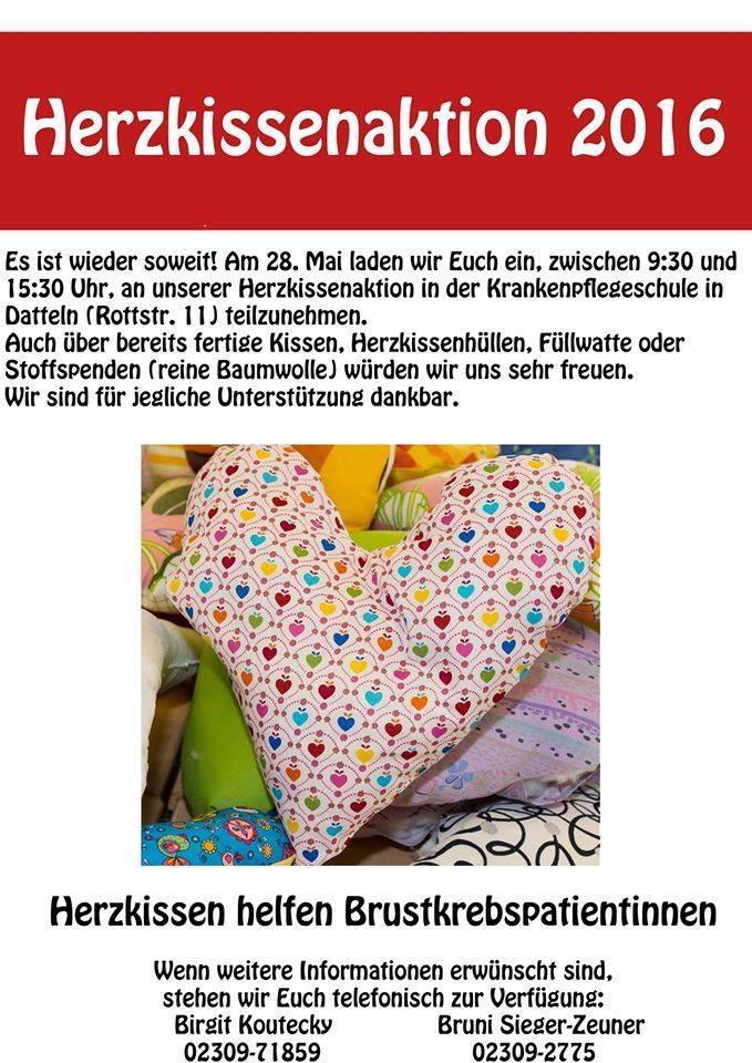Herzkissenaktion in Dortmund: Herzkissen nähen in der Umgebung