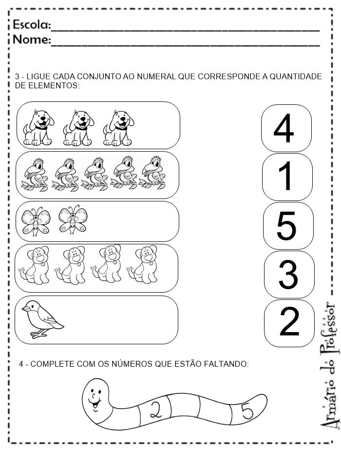 Extremamente Plano de Aula - Numerais (com atividades) | Armário do Professor BE65