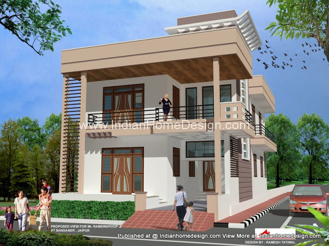 Latest Rajasthan Housing 3d Exterior Views