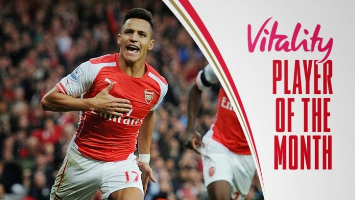 Alexis Sanchez Wins Vitality Player Award for November