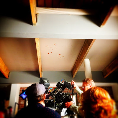 """""""Pretty Little Liars"""" behind-the-scenes 7x13 """"Hold Your Piece"""" blood splatter"""