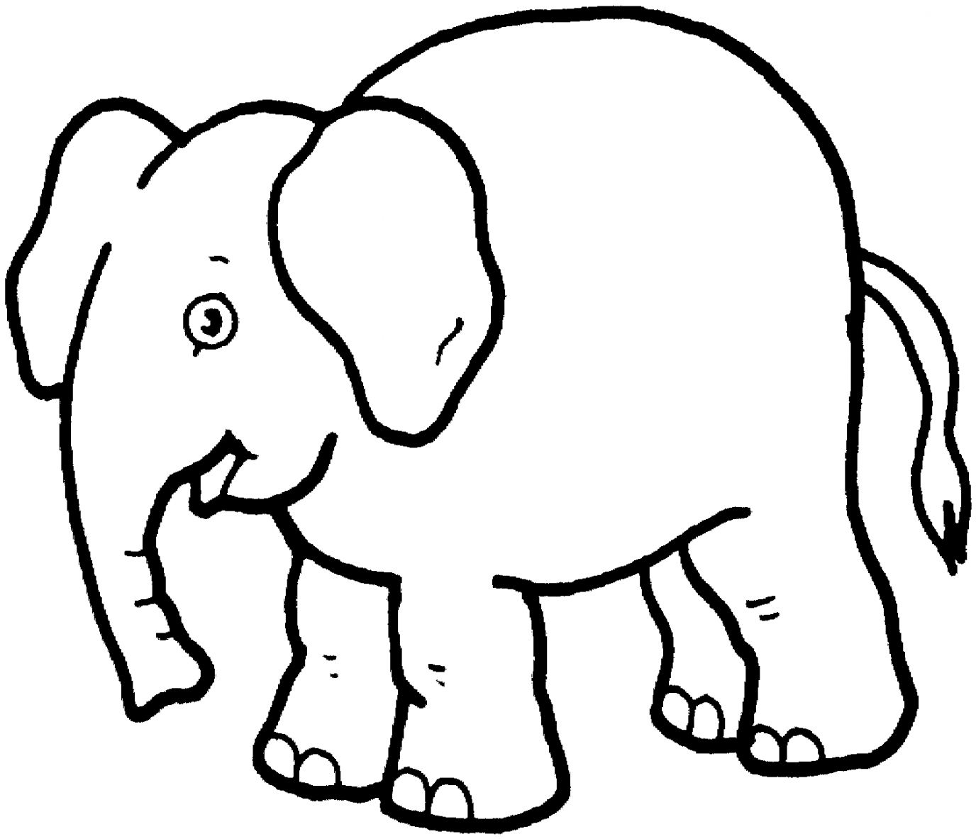 Elephant Black And White Clipart | Wallpapers Warrior