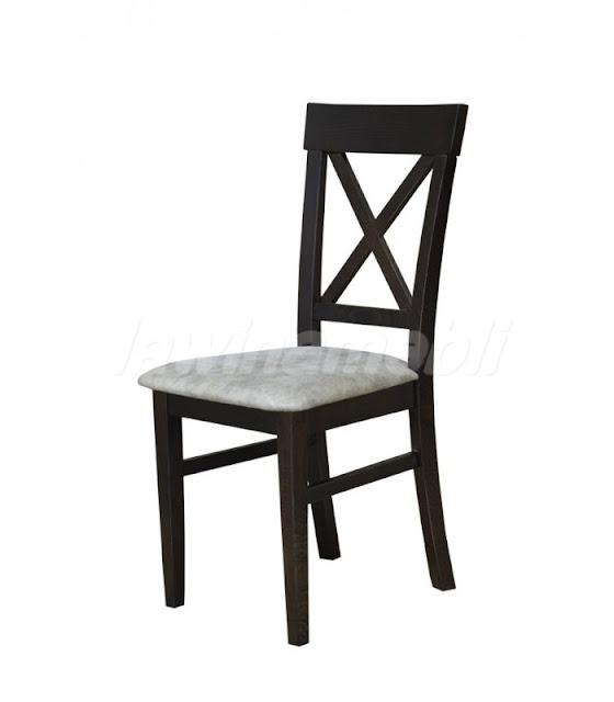 Nowoczesne, drewniane krzesło do jadalni