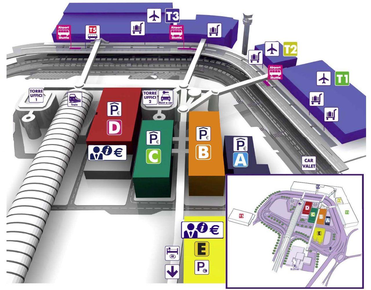 Mappa aeroporto Fiumicino