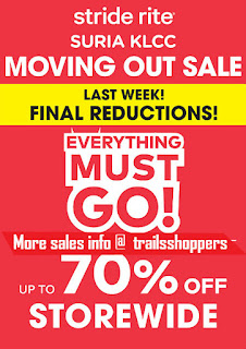 Stride Rite KLCC Moving Out Sale