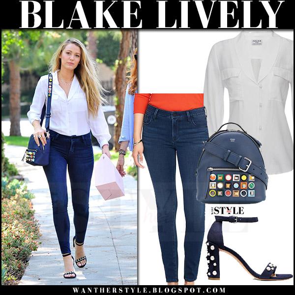041c1e04a2 Blake Lively in white skirt