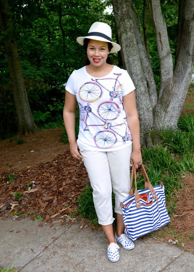 81a072e12bd56 Blazer, tank, and shorts c/o Belk   Sandals c/o JustFab   Necklace, Tiffany    LV bag