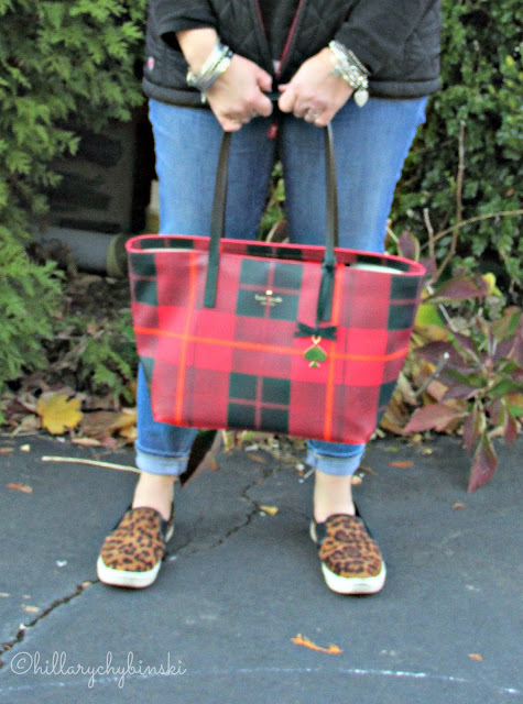 Don't forget a bag to hold things and comfortable shoes when dressing for a day of shopping