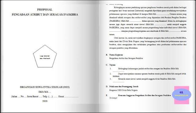 contoh proposal pengadaan perlengkapan (atribut & seragam) paskibra