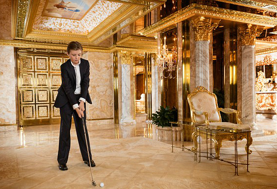 Image result for baron trump in palace