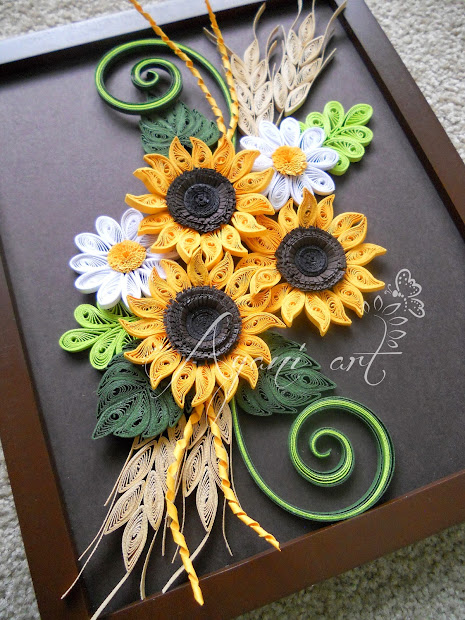 Sunflower Design Paper Quilling