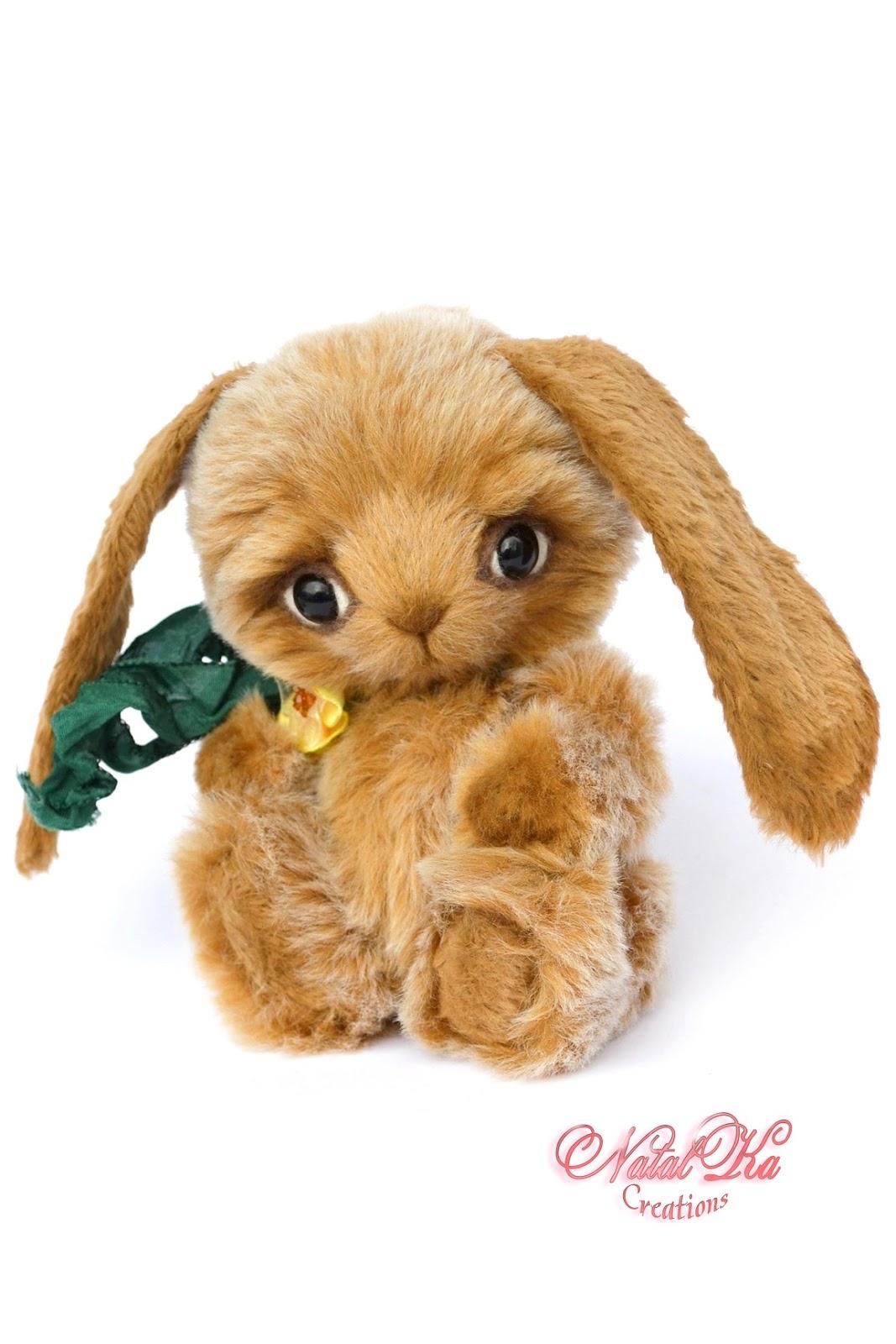 Artist teddy bunny, rabbit handmade, jointed, ooak, Künstlerteddy, Künstlerhase, Teddybär, handgemacht von NatalKa Creations