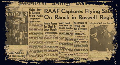 An Extraterrestrial Flying Disk Crashed Near Roswell in 1947: Not a UFO