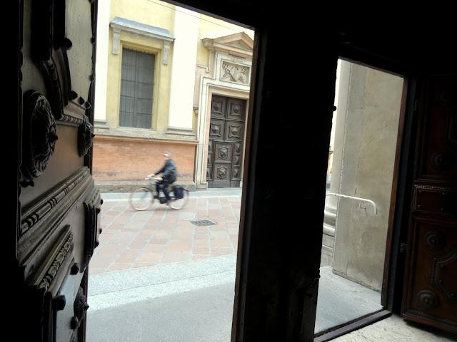 Church doors Parma, Italy