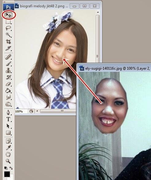 Tutorial Photoshop Cara Mengganti Wajah Dengan Mudah Kelas Desain Belajar Desain Grafis Mudah