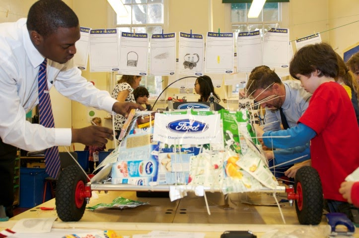 We're the first school in London to build a Goblin eco car with help