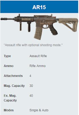 Deskripsi Senjata AR15 di Rules Of Survival
