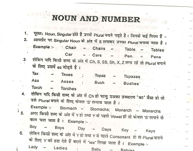 English Classroom Notes for SSC CGL by Jamal Perwez(One of the best English Faculty in Patna) in Hindi