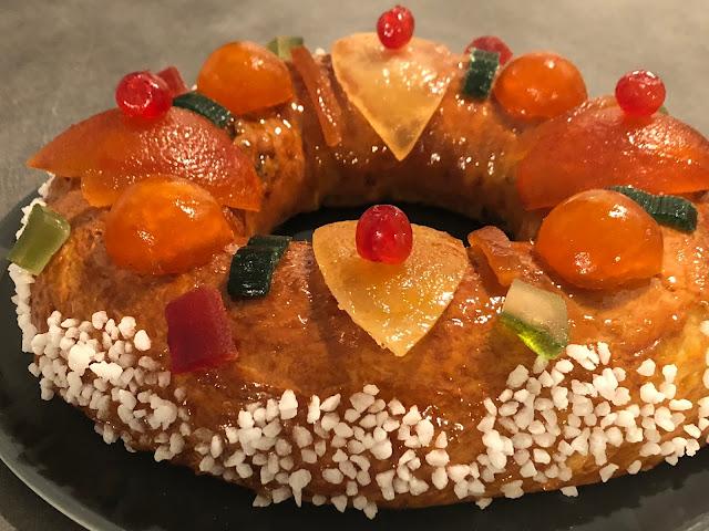 galette des rois briochée aux fruits confits