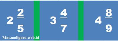 Contoh Soal Matematika Kelas 5 SD pada Materi Mengubah Berbagai Bentuk Pecahan ke Pecahan Campuran