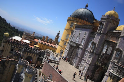 View from Pena National Palace in Sintra