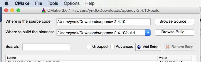 Programming OpenCV, OpenGL, ETC: Qt5, OpenGL for OpenCV 2 4 9 in Mac