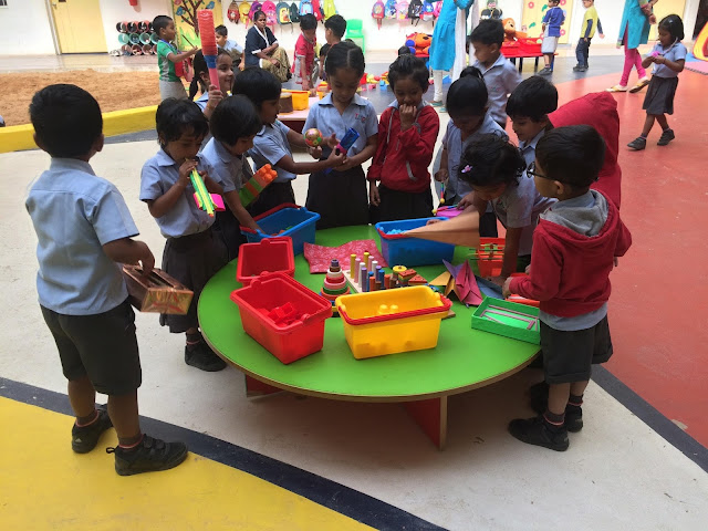 Trio Tots participate in unstructured free play on Global School Play Day