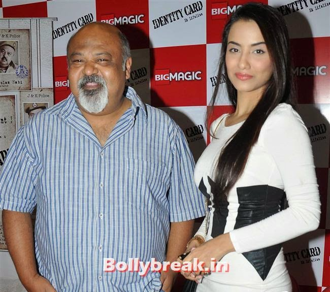 Sourab Shukla and Tia Bajpai, Hot Tia Bajpai at Identity Card Film Trailer Launch