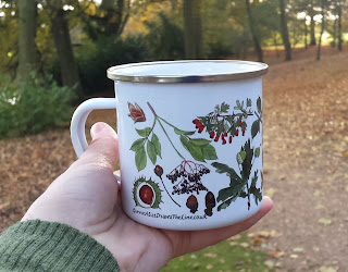 Autumn Enamel mug by Alice Draws The Line