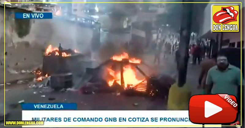Guardias Nacionales alzados en Cotiza se entregaron a las fuerzas del régimen