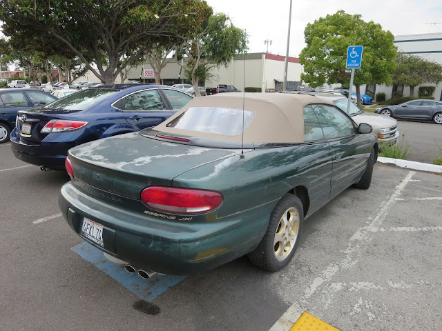 Chrysler Sebring Convertible with peeling paint before repairs from Almost Everything Auto Body