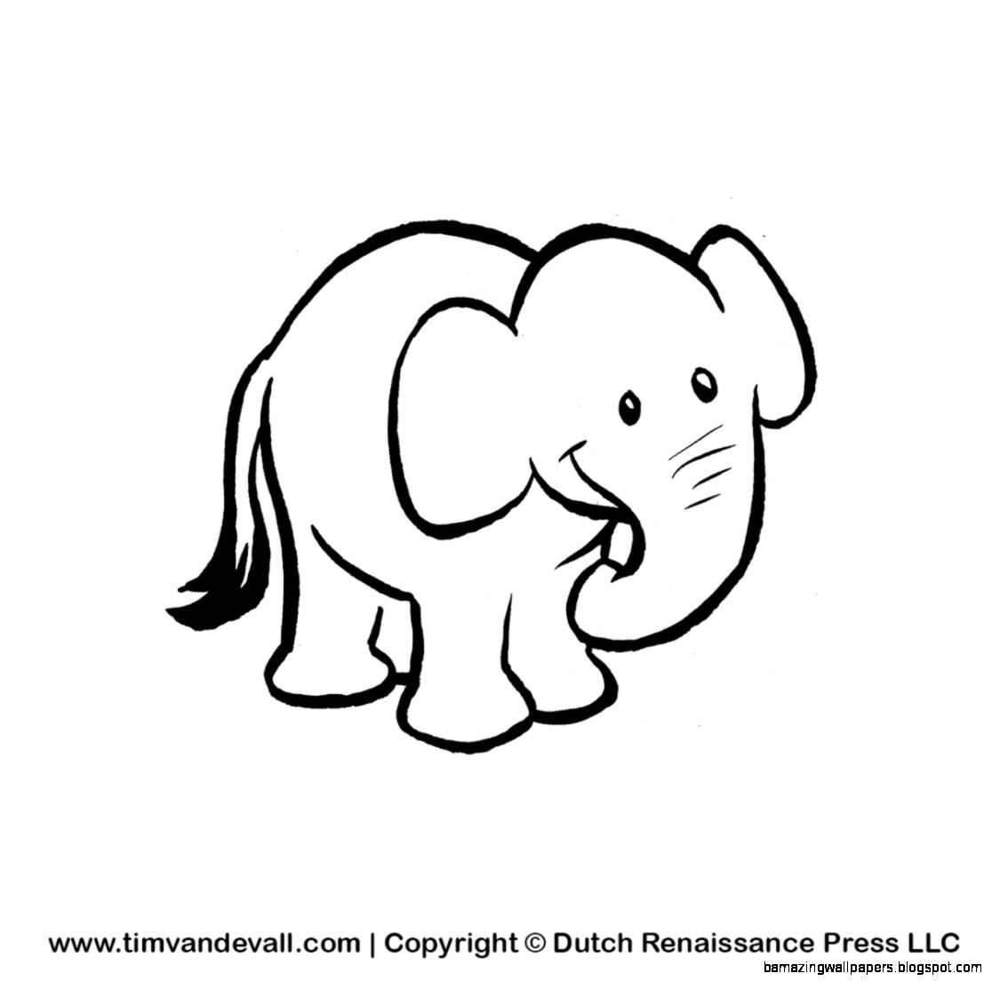 Baby Elephants Clipart Black And White