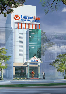 thiết kế facade ngân hàng Liên việt