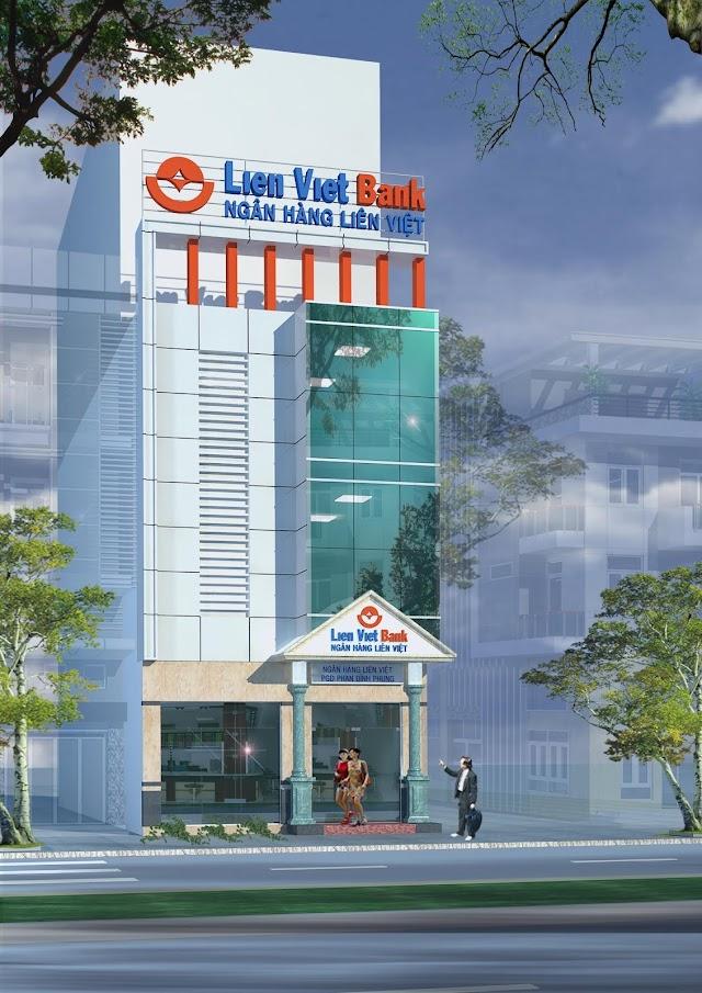 Thiết kế mặt tiền ngân hàng Liên Việt chi nhánh Phú Nhuận có file cad tham khảo