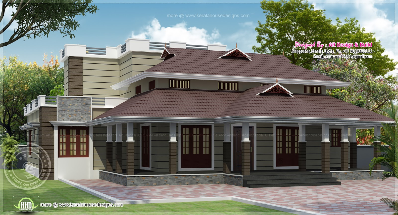 Nalukettu kerala house in 2730 sq ft kerala home design for Veedu elevation