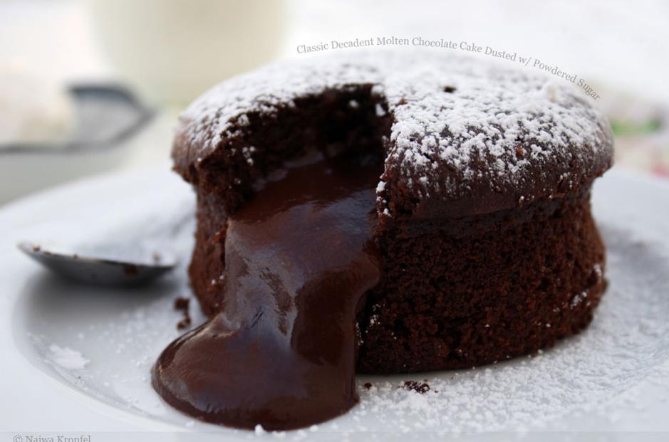 Resep Chocolate Lava Cake Jtt: Resep Molten Lava Chocolate Cake
