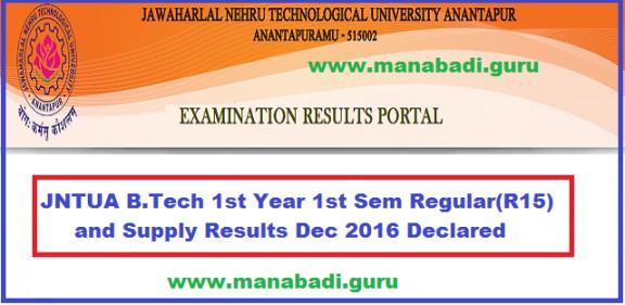 JNTUA Results,B.Tech results,Results,JNTU Anantapur