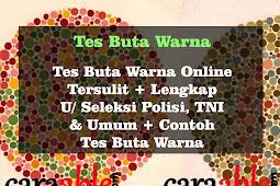 [TERSULIT] Tes Buta Warna Online Sulit Lengkap u/ Tes TNI & Polisi