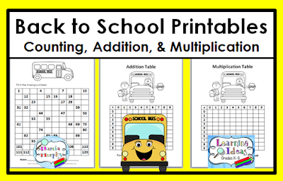 math worksheet : learning ideas  grades k 8 free back to school math printables : Back To School Math Worksheets