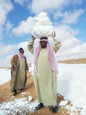 snow arab saudi