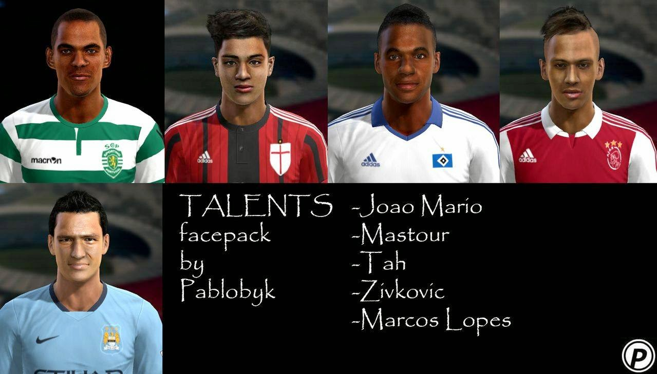 super popular 13859 85688 ... PES 2013 Talents facepack by pablobyk ...