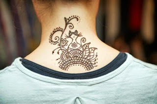 New Neck Henna Mehndi Tattoos Design For Girlfriend 2016